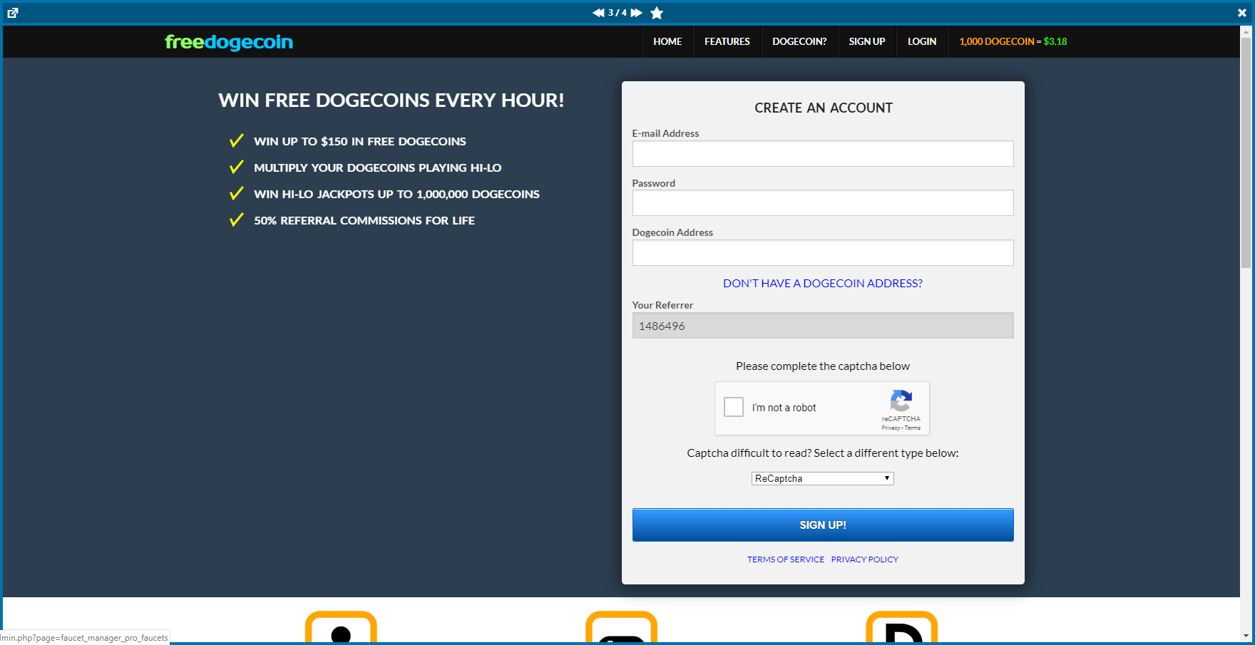 Cryptocurrency Faucet Manager Plugin for WordPress - Faucet Manager Pro